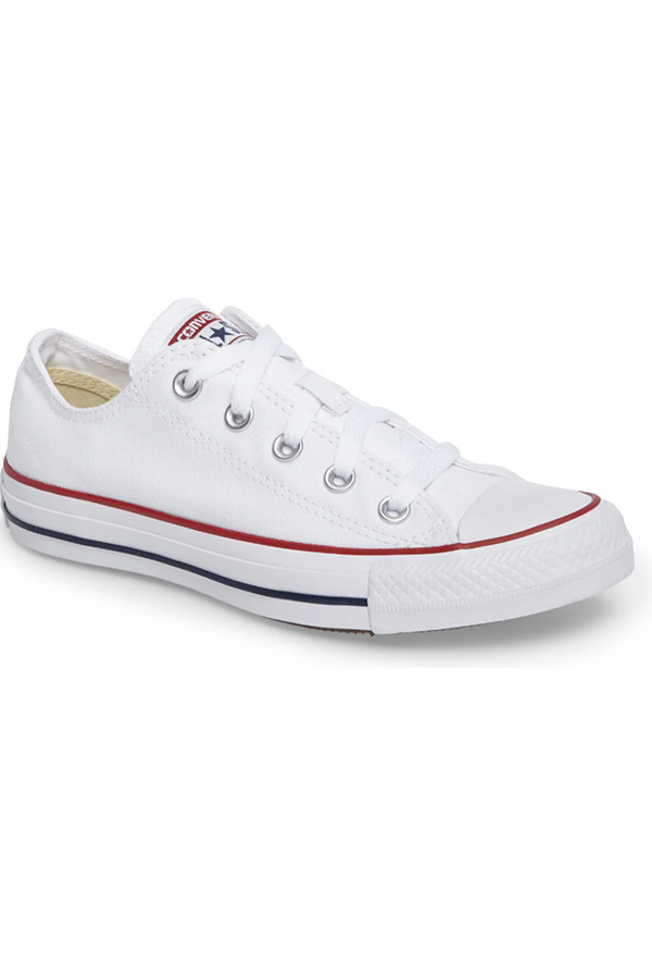 White converse tennis shoes available in larger sizes