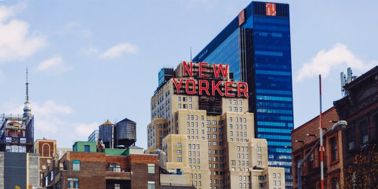 New Yorker building in the garment district in New York city