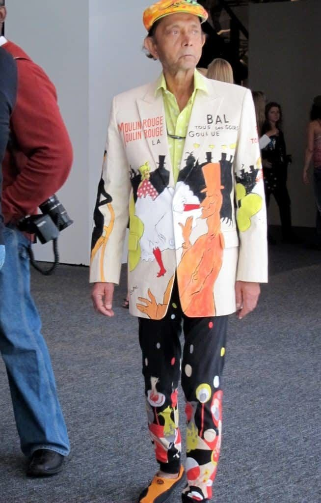 Guy wearing a crazy suit -- that's how to get into New York fashion week