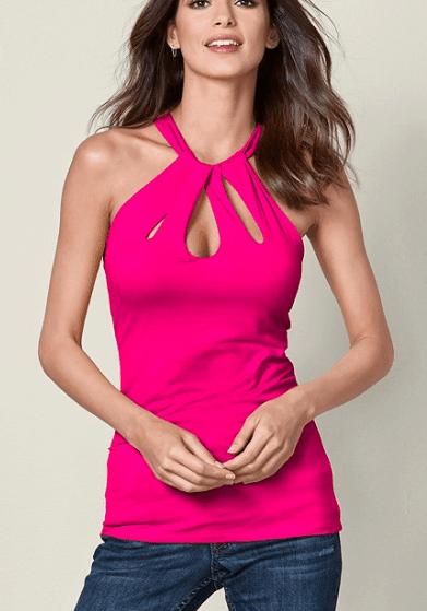 hot pink halter top
