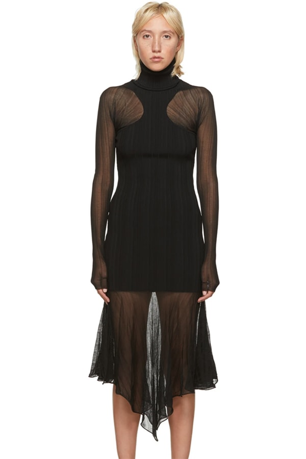 Black evening dress by Mugler