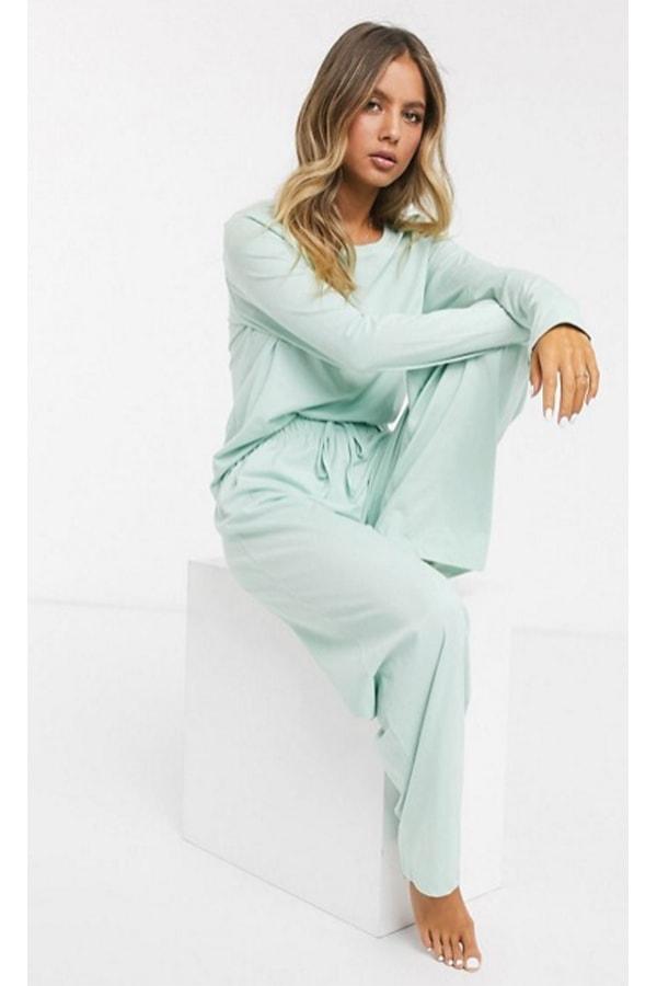 Mint green pajamas from ASOS