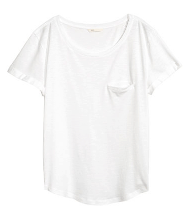 white t-shirt from H&M