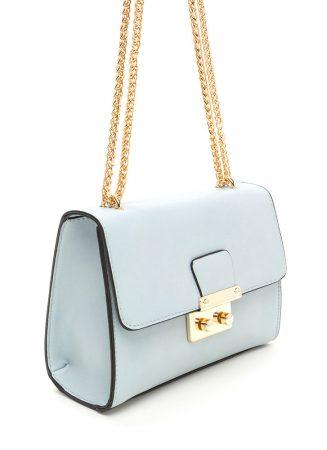 Mint green boxy strap bag