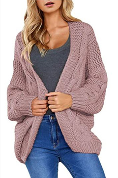 Slouchy cable-knit sweater