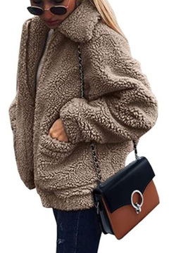 Shearling coat in oversized fit