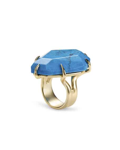 Blue stone cocktail ring by Kendra Scott