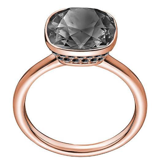 Grey stone cocktail ring by Swarovski
