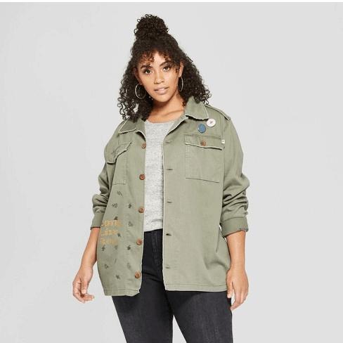Green down jacket