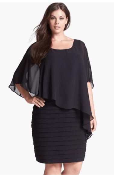 Chiffon plus size evening dress