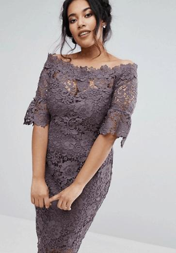 Crochet plus size evening dress