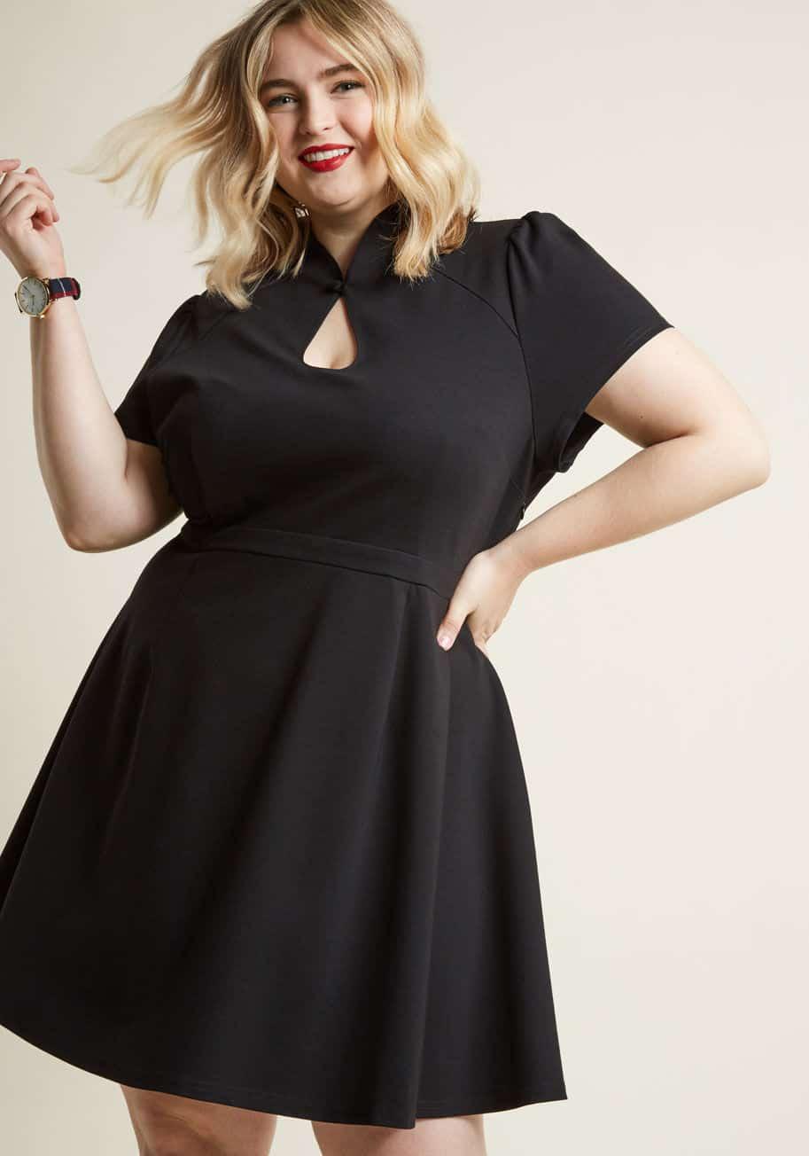Short sleeved plus size evening dress