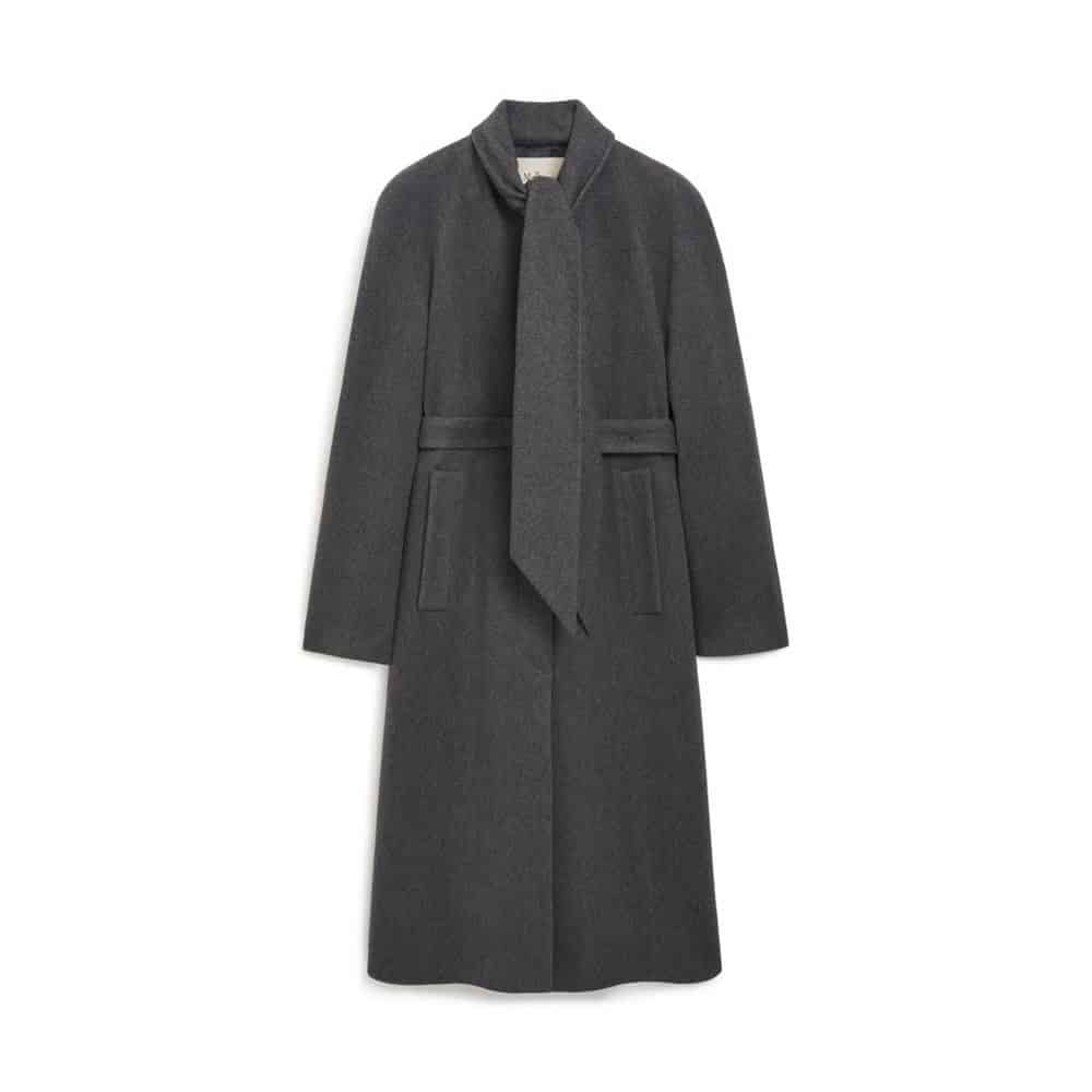 Gray Abi Coat by Mulberry