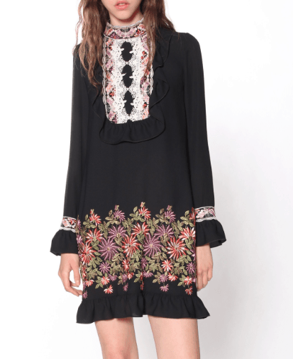 Embroidered dress by Anna Sui