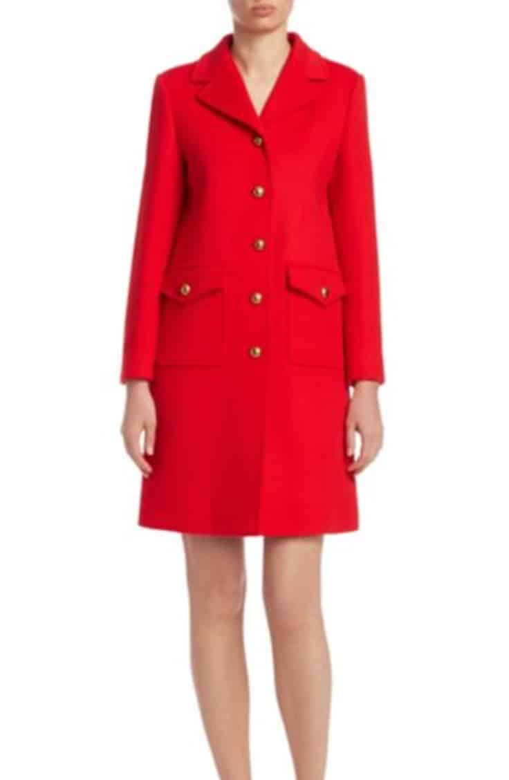 Red Gucci Peacoat