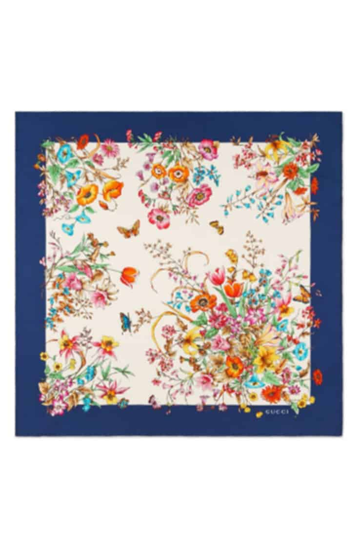 Colorful floral scarf by Gucci