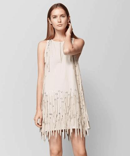 Fringe dress by Bottega Veneta