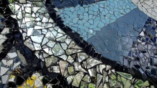 Close up of mosaic picture frames