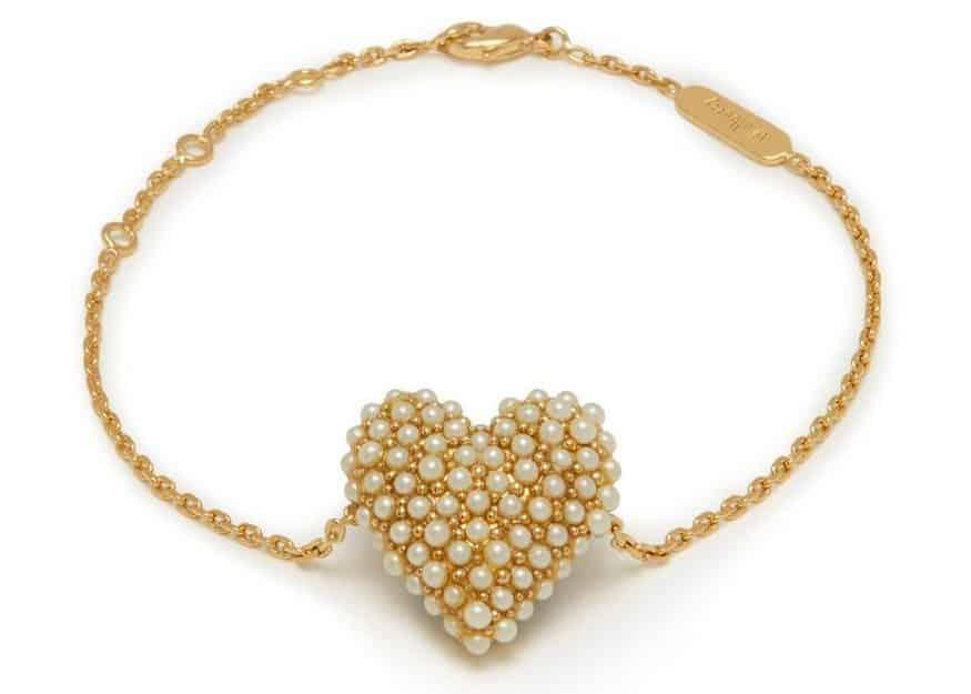 Mulberry heart bracelet