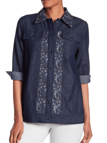 Denim shirt jacket from Anna Sui