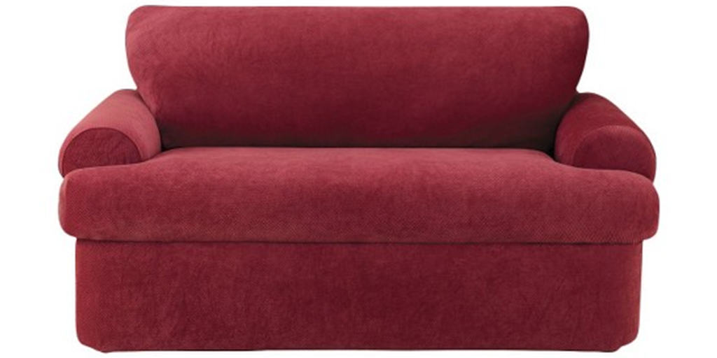 Red stretch slipcover