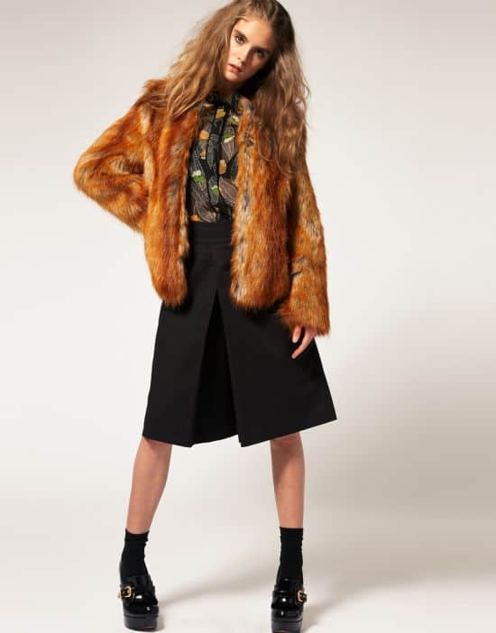 Asos Faux Fur Coat