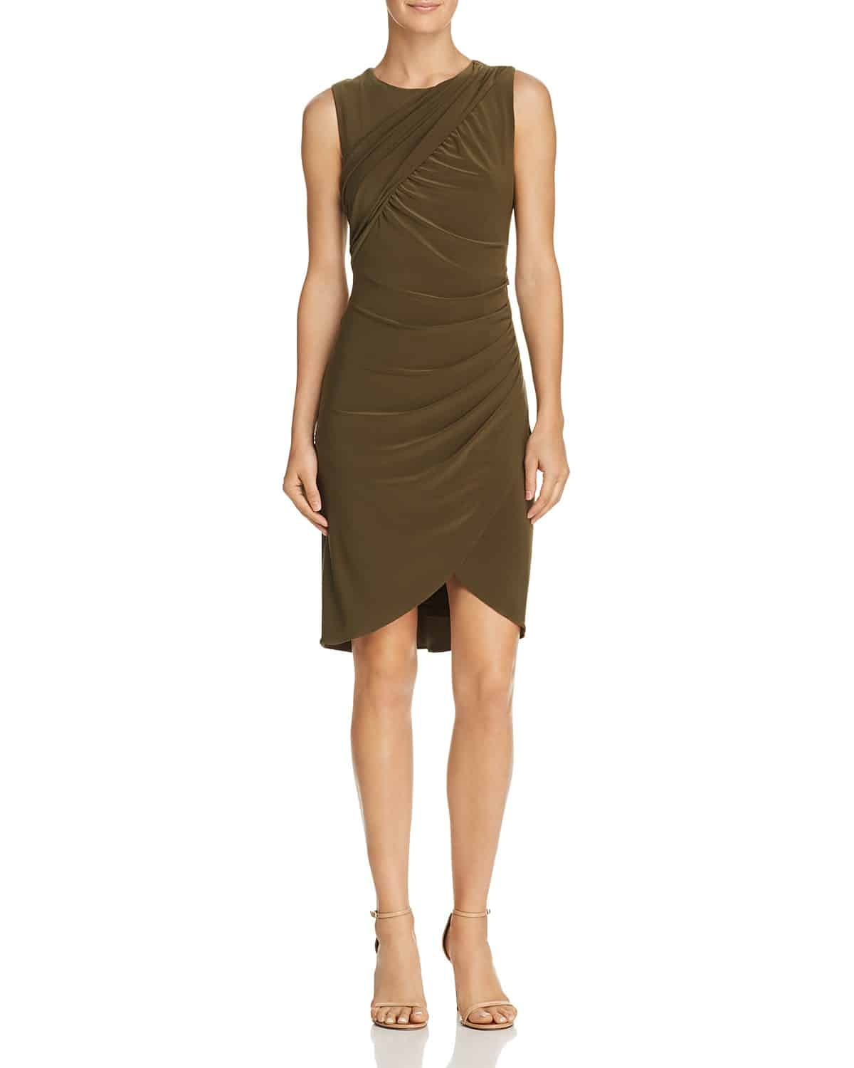 Neutral olive dress