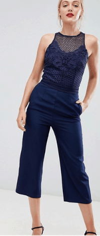 neutral color clothing - navy jumpsuit