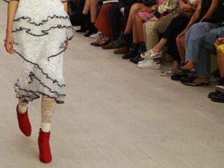 Fashion model on the runway.