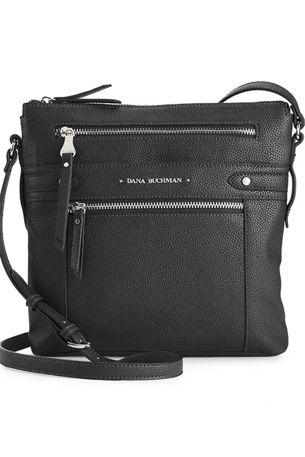 Black crossbody Dana Buchman purse from Kohl's.