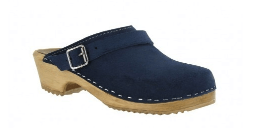 Swedish clog in navy blue