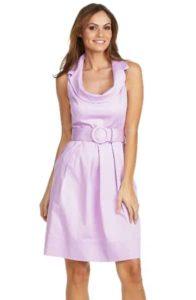 Spence Belted Cowlneck Dress
