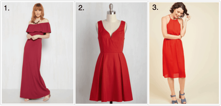 red dresses at modcloth