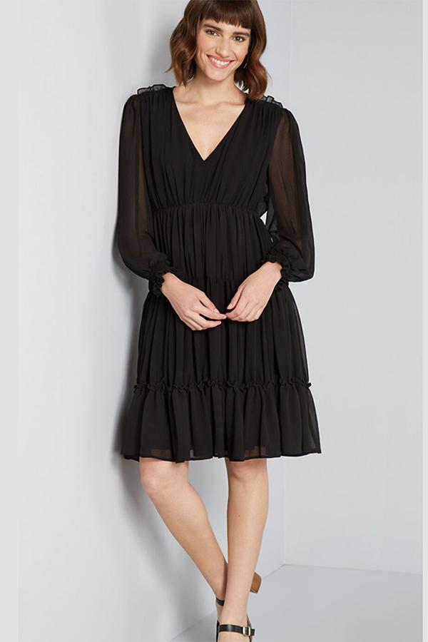 Black Modcloth dress.
