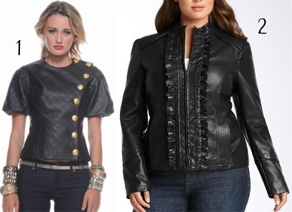 Faux, Black Leather Jacket