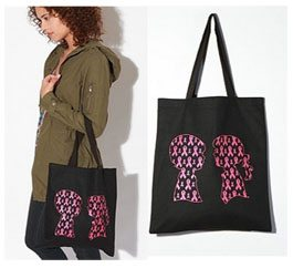 Boy Meets Girl/Urban Outfitters Breast Cancer Tote