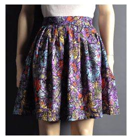 eBay Obsession: Diane Von Furstenberg Graphic Pouf Skirt, Size M