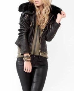 faux-fur-trim-bomber-jacket