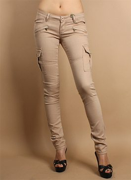 eBay Obsession: Skinny Cargo Pants in Khaki, Multiple Sizes