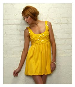 eBay Obsession: Alice + Olivia Yellow Sequin Dress, Size M