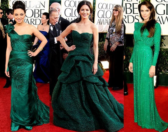 Emerald Dresses at the 2011 Golden Globes