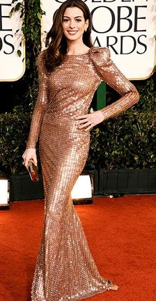Gold Dresses at the 2011 Golden Globes