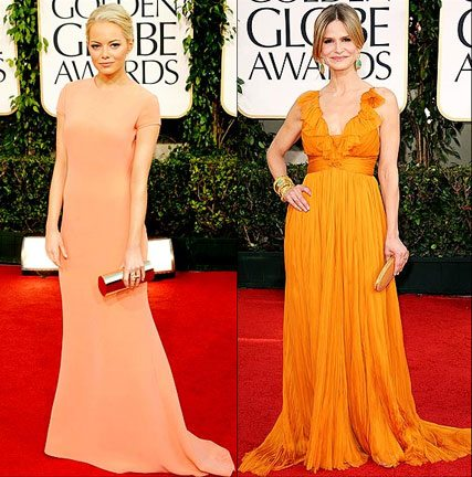Orange Dresses at the 2011 Golden Globes