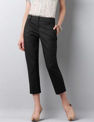 Cuffed Black Pants