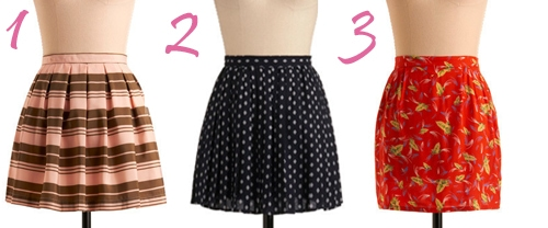 Cute Skirts at Modcloth