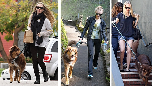 Amanda Seyfried and her Dog