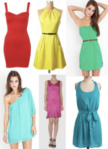 Bright Color Dresses