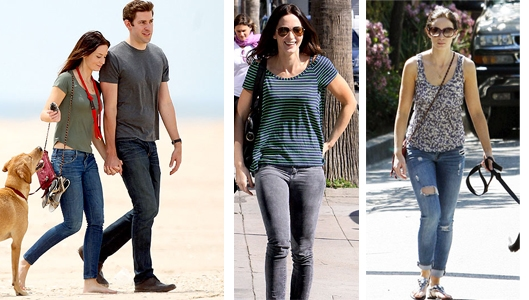 Emily Blunt and Tees and Jeans