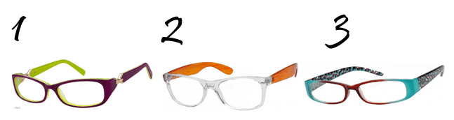 Colored Sides Eyeglasses