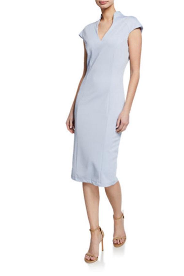 Blue sheath dress